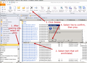 How to fix Document or List Item Cannot Delete on SharePoint8